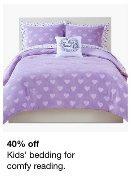 40% Off Kid's Bedding from macy's