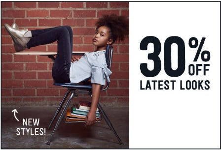 30% Off Latest Looks from Crazy 8