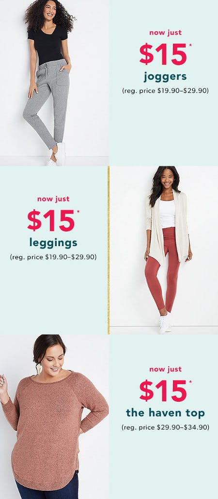 $15 Select Styles from maurices