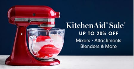 Up to 20% Off KitchenAid Sale