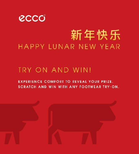 Lunar New Year - Try On and Win Event! from ECCO