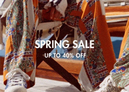 Spring Sale: Up to 40% Off
