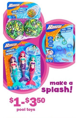 $1–$3.50 Pool Toys from Five Below