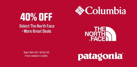 40% Off Select the North Face + More Great Deals