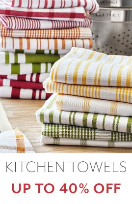 Up to 40% Off Kitchen Towels from Sur La Table