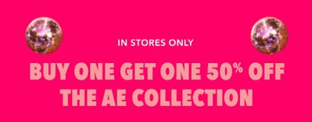 BOGO 50% Off The AE Collection