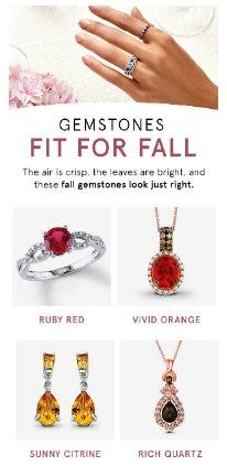 Gemstones Fit for Fall from Kay Jewelers