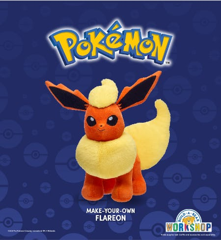Pokémon Trainers! Warm Up this Winter with Flareon at Build-A-Bear!®