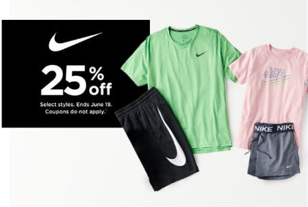 25% Off Nike from Kohl's