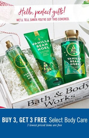 Buy 3, Get 3 Free Select Body Care from Bath & Body Works