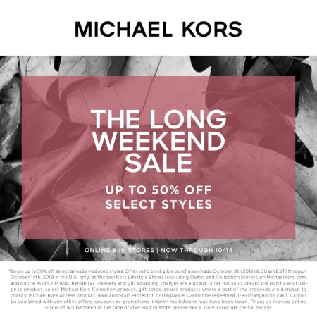 The Long Weekend Sale from MICHAEL KORS