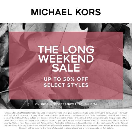 The Long Weekend Sale