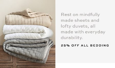 25% Off All Bedding