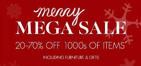 Merry Mega Sale 20–70% Off