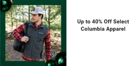 Up to 40% Off Select Columbia Apparel