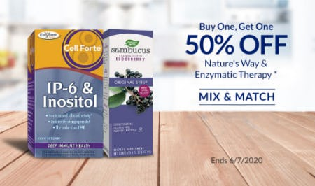 BOGO 50% Off Nature's Way & Enzymatic Therapy from The Vitamin Shoppe
