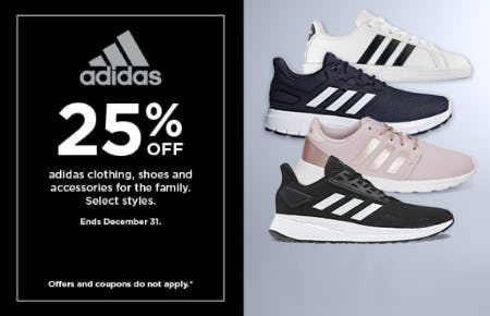 25% Off Adidas from Kohl's