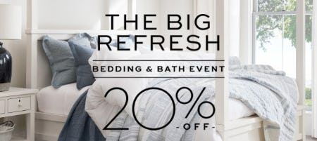 20% Off Bedding & Bath from Pottery Barn