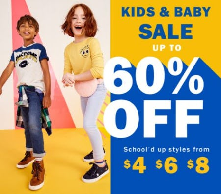 Kids & Baby Sale up to 60% Off from Old Navy