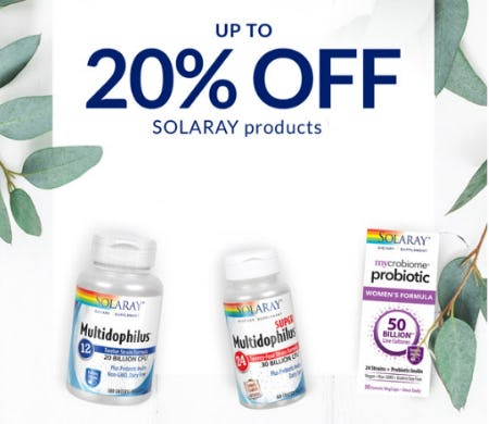 Up to 20% Off Solaray Products from The Vitamin Shoppe
