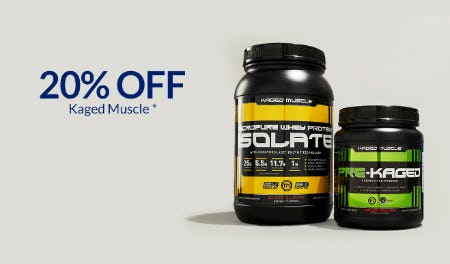 20% Off Kaged Muscle from The Vitamin Shoppe