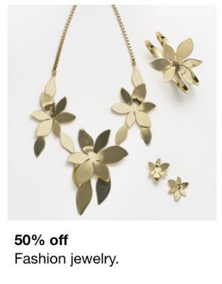 50% Off Fashion Jewelry from macy's