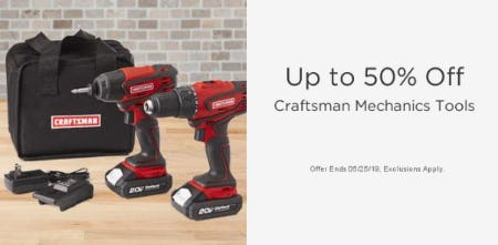 Up to 50% Off Craftsman Mechanics Tools from Sears
