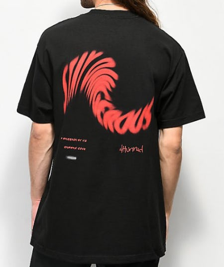 4 Hunnid Stay Dangerous Twist Black T-Shirt from Zumiez