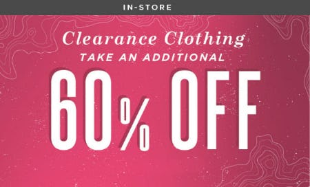 Additional 60% Off Clearance Clothing from Earthbound Trading Co
