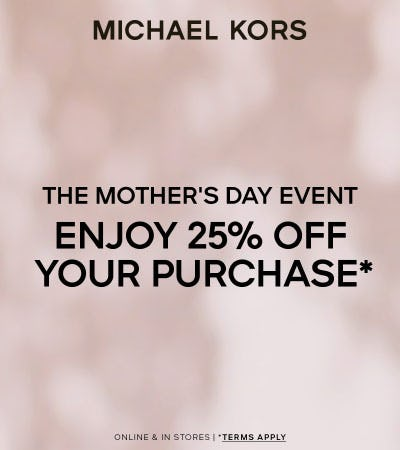 The Mother's Day Event from Michael Kors