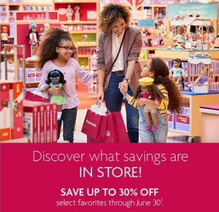 Up to 30% Off Select Favorites from American Girl Place