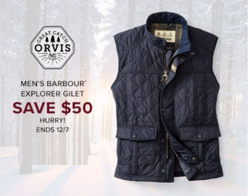 Men's Barbour Explorer Gilet Save $50 from Orvis