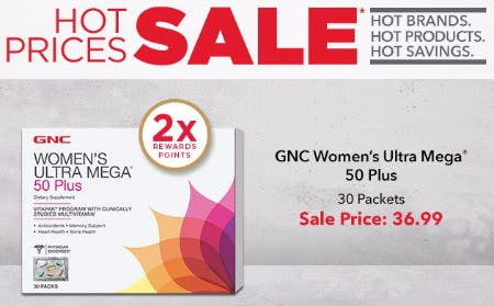 $36.99 GNC Women's Ultra Mega 50 Plus