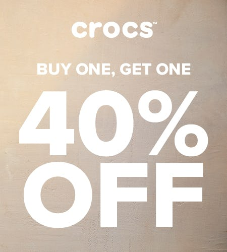 Buy One, Get One 40% Off from Crocs