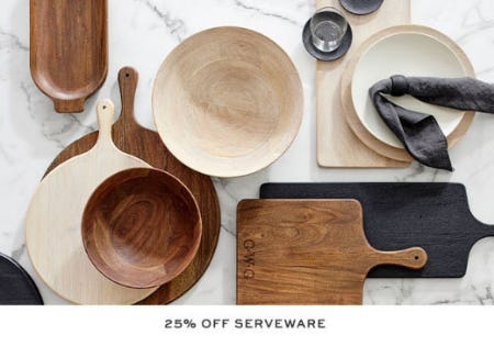 25% Off Serveware from Pottery Barn