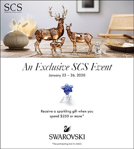 Exclusive SCS Event and Sparkling Gift with $250+ spend from Swarovski