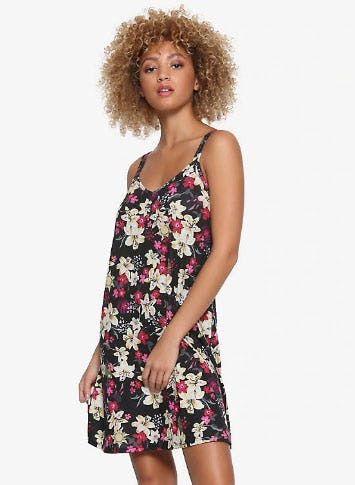Disney Tangled Floral Print Slip Dress from Hot Topic