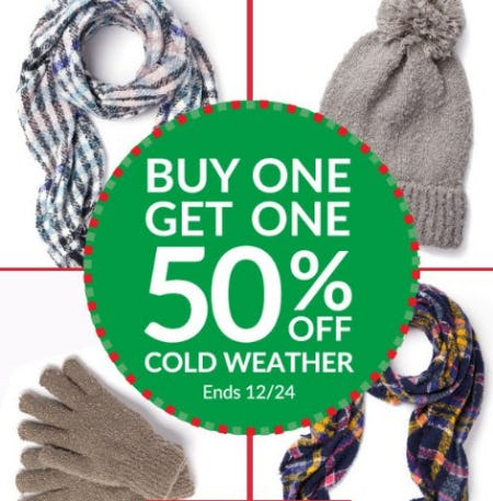 Buy One, Get One 50% Off Cold Weather from Charming Charlie