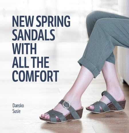 New Sandals for Spring from THE WALKING COMPANY