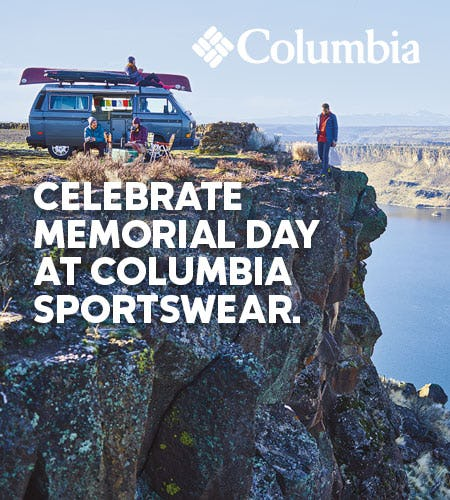 Memorial Day Sale from Columbia