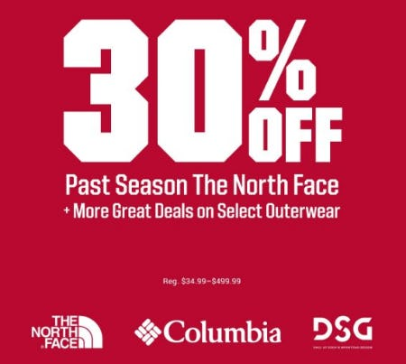 30% Off Past Season The North Face from Dick's Sporting Goods