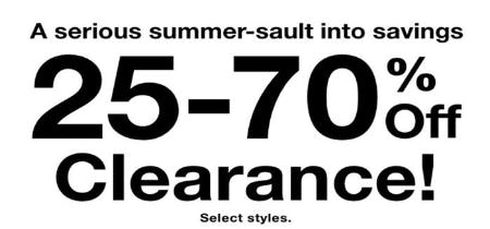 25-70% Off Summer Clearance from macy's