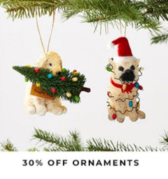 30% Off Ornaments from Pottery Barn