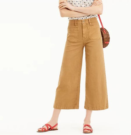 Point Sur Washed Wide-Leg Crop Pant from J.Crew