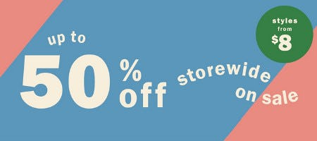 Up to 50% Off Storewide Sale from Old Navy