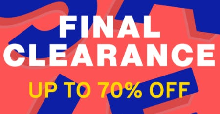 Final Clearance: Up to 70% Off from TOPSHOP