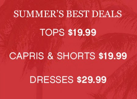 Summer's Best Deals from Catherines Plus Sizes