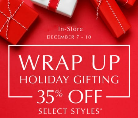 35% Off Wrap Up Holiday Gifting