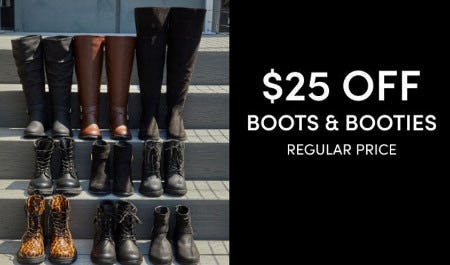 $25 Off Boots & Booties from Torrid