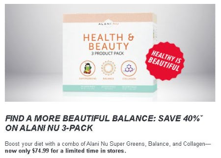 Save 40% on Alani NU 3-Pack from GNC